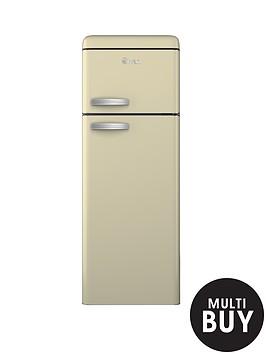 swan-sr11010c-55cm-retro-top-mount-fridge-freezer-cream