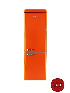swan-sr11020o-60cm-retro-fridge-freezer-orange