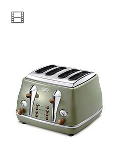 delonghi-ctov4003gr-vintage-icona-4-slice-toaster-green