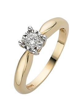 love-diamond-9-carat-yellow-gold-15pt-diamond-illusion-set-solitaire-ring