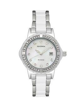 sekonda-ladies-white-and-stainless-steel-bracelet-watch