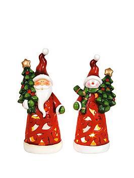 santa-and-snowman-christmas-tealight-holders-set-of-2
