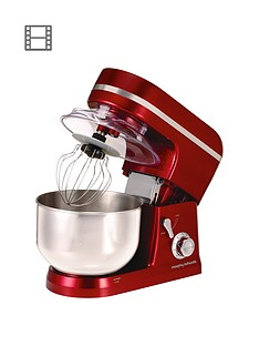 morphy-richards-400010-accents-stand-mixer-red