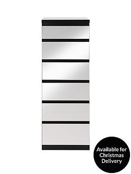 prague-mirror-narrow-chest-of-6-drawers