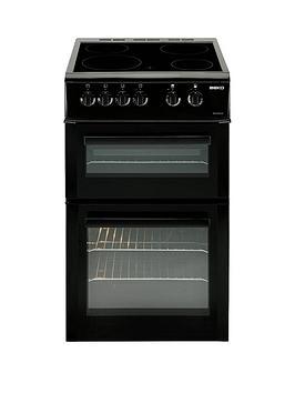 beko-bdvc563ak-50cm-double-oven-electric-cooker-black