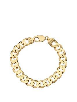 love-gold-9-carat-yellow-gold-approx-1oz-solid-diamond-cut-curb-bracelet