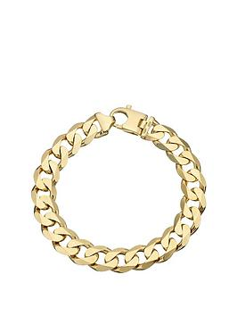 9-carat-yellow-gold-approx-2oz-solid-diamond-cut-curb-bracelet