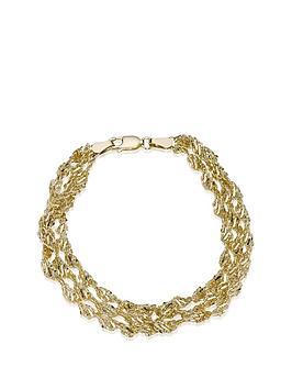 love-gold-9-carat-yellow-gold-3-row-twist-bracelet