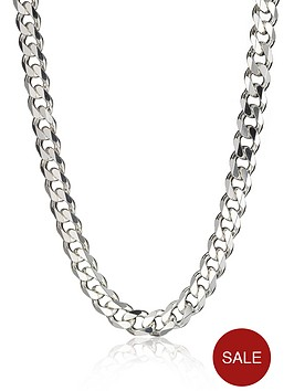 the-love-silver-collection-sterling-silver-3oz-solid-diamond-cut-20-inch-curb-chain