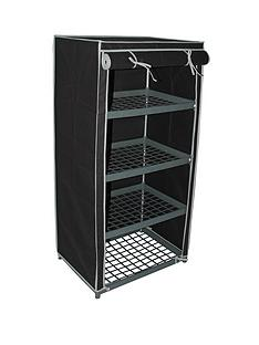 new-ideal-4-shelf-canvas-storage-unit-black