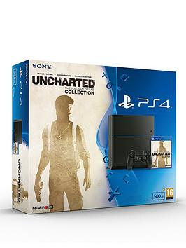 playstation-4-500gb-console-with-uncharted-the-nathan-drake-collection-and-optional-dualshock-controller-andor-12-months-playstation-plus