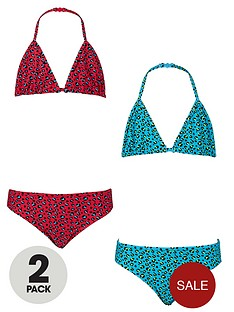 freespirit-girls-animal-print-triangle-bikinis-2-pack