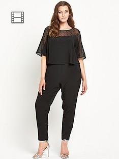 so-fabulous-spot-mesh-double-layer-crepe-jumpsuit