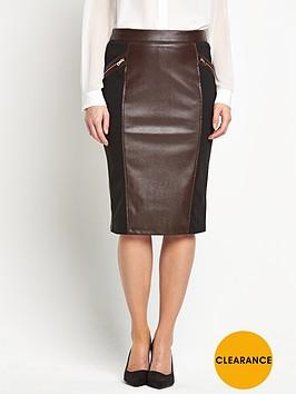 savoir-embossed-snake-pu-pencil-skirt