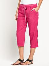 Linen Crop Fashion Trousers