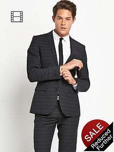 taylor-reece-mens-slim-fit-check-suit-jacket-black