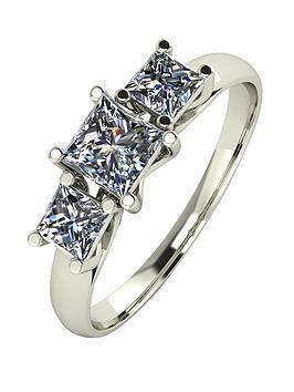 moissanite-9ct-white-gold-1ct-3-stone-square-cut-ring