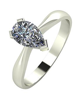 moissanite-9-carat-white-gold-1-carat-pear-shaped-solitaire-ring