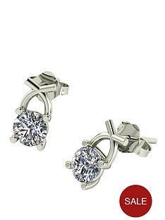 moissanite-premium-collection-9-carat-white-gold-50-point-round-brilliant-cut-solitaire-earrings