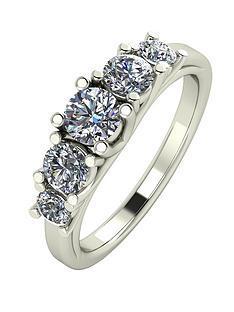 moissanite-premium-collection-9-carat-white-gold-1-carat-brilliant-cut-five-stone-eternity-ring