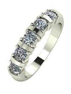 moissanite-9-carat-white-gold-1-carat-moissanite-bar-set-5-stone-eternity-ring