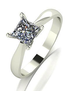 moissanite-9-carat-white-gold-80-point-square-brilliant-cut-solitaire-ring