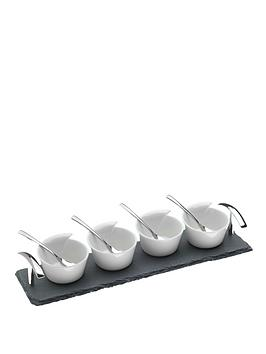 arthur-price-kitchen-set-of-4-bowls-and-slate-base