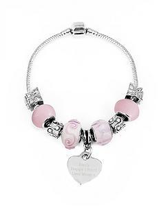 personalised-silver-tone-sweet-pink-charm-bracelet