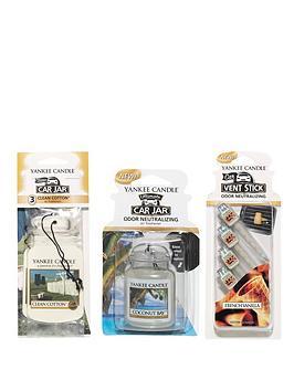 yankee-candle-car-jar-ultimate-single-car-jar-bonus-3-pack-vent-stick-variety-set-5-piece-set