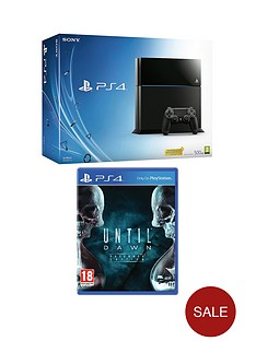 playstation-4-500gb-console-with-until-dawn-with-optional-12-months-playstation-plus-or-dual-shock-4-controller