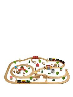 tidlo-100-piece-wooden-train-set