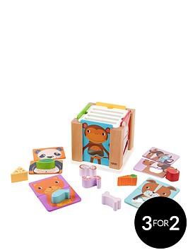 tidlo-wooden-animal-sorting-cube