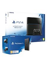 1Tb Console with FREE PlayStation TV and Optional Extra Dual Shock 4 Controller and 12 Months Playstation Plus