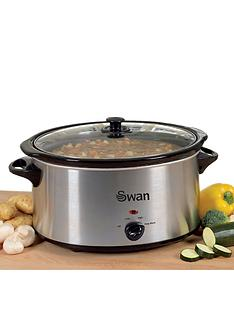 swan-sf11031-35-litre-slow-cooker-stainless-steel
