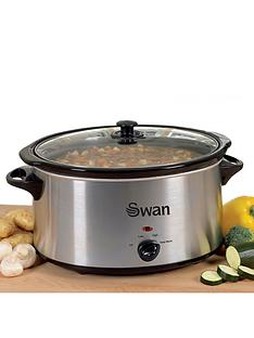 swan-sf11041-55-litre-slow-cooker-stainless-steel