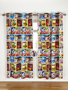 catherine-lansfield-comic-stripe-eyelet-curtains-multi