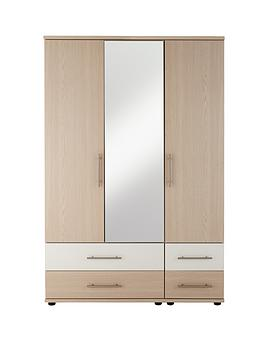 consort-putney-3-door-4-drawer-mirrored-wardrobe