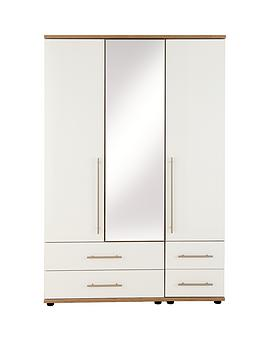 consort-kenton-3-door-4-drawer-mirrored-wardrobe