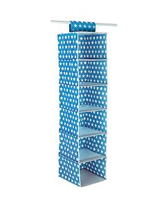 ideal-kids-6-shelf-wardrobe-hanging-unit