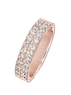 tresor-paris-rose-gold-plated-white-crystal-2-row-5-mm-ring