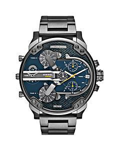 diesel-mr-daddy-blue-dial-and-gunmetal-tone-bracelet-mens-watch