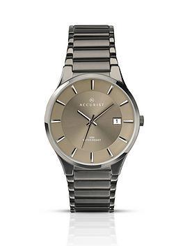 accurist-gunmetal-tone-stainless-steel-grey-dial-bracelet-mens-watch