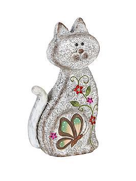 stone-effect-sitting-cat-garden-ornament