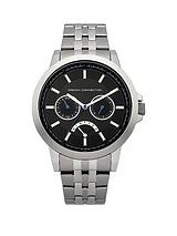 Silver Tone Mens Bracelet Watch