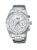 Chronograph Silver Dial Stainless Steel Bracelet Mens Watch