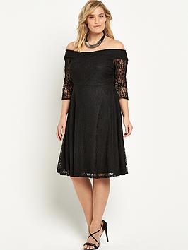 so-fabulous-lace-bardot-skater-dress