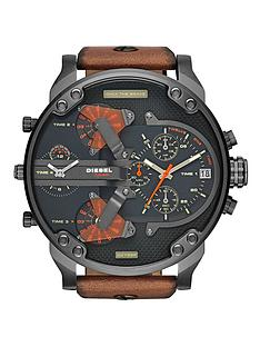diesel-mr-daddy-black-dial-and-gunmetal-tan-leather-strap-mens-watch