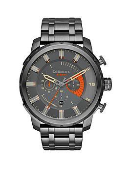 diesel-stronghold-black-dial-gunmetal-tone-bracelet-mens-watch