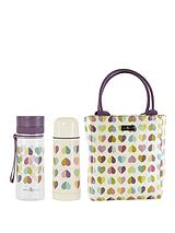 Vintage Confetti Lunch Tote, Flask and Water Bottle Set