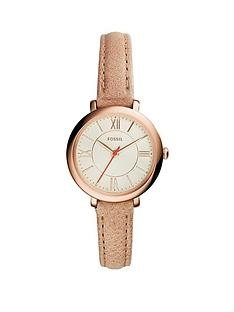 fossil-jacqueline-rose-gold-tone-mini-case-camel-leather-strap-ladies-watch